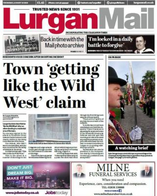 Front page of the Lurgan Mail