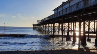 Victorian pier in Teignmouth
