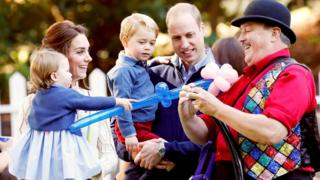 The Cambridges play together in Canada