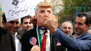 A demonstration in iran