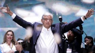 Andres Manual Lopez Obrador, the next Mexican president, on election