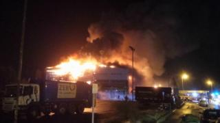 Fire at Devon Contract Waste