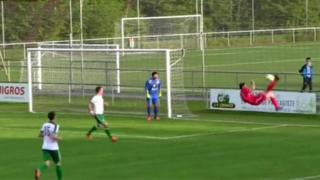 Autogol en la liga menor suiza