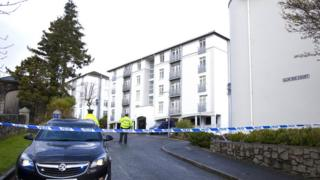 A police cordon at Glin Ree Court in Newry