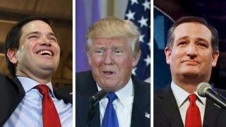 Rubio, Trump and Cruz