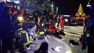 На месте трагедии в Анконе