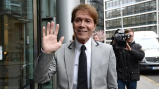 Cliff Richard arriving at the Rolls Building in London on 24 April 2018