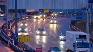 Traffic near the Baillieston Interchange