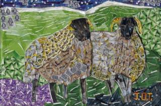 Artwork showing Swaledale sheep