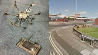 Drone seized by police and HMP Liverpool