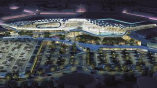 Artist's impression of proposed expansion of Meadowhall shopping centre