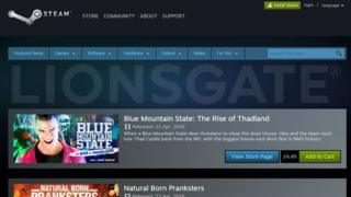 Gaming platform Steam now sells rentals of Lionsgate films.