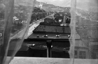View from hotel window - Butte, Montana, 1956