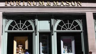 general view of a Fortnum and Mason store in Piccadilly, London