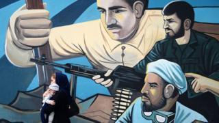 یکی از تصاویر نقاشی شده بر دیوارهای شهر تهران