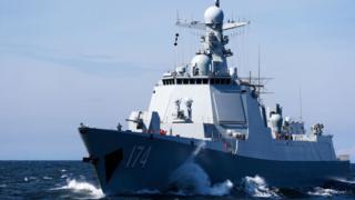 2017中俄在波羅的海進行聯合軍演。