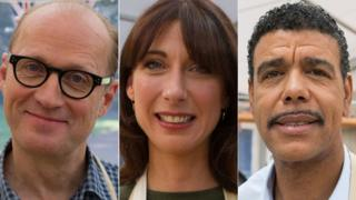 Ade Edmondson, Samantha Cameron and Chris Kamara