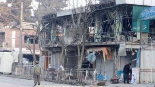 محل انفجار کابل