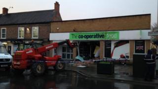 Scene of cash machine robbery in Pocklington