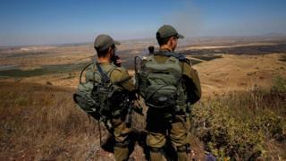 نیروهای اسرائیلی در بلندیهای اشغالی جولان