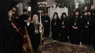 Греческие священнослужители (архивное фото 20 ноября 2018 года)