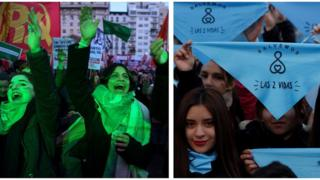The women protesting the Argentina abortion debate