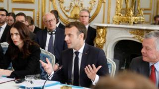Jacinda Ardern and Emmanuel Macron launch the initiative in Paris