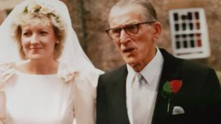 Elaine O'Neil and her father