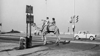 A camel ride on Mumbai's Marine Drive in 1977