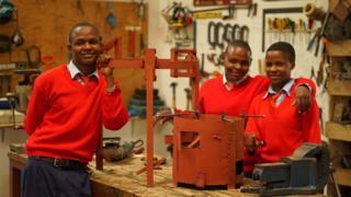 School students in the Twende workshop