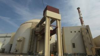 File photo showing showing the reactor building at the Bushehr nuclear power plant in southern Iran (26 October 2010)