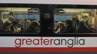 Greater Anglia train carriage