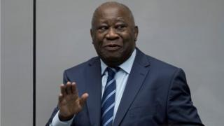 Laurent Gbagbo at the ICC in The Hague