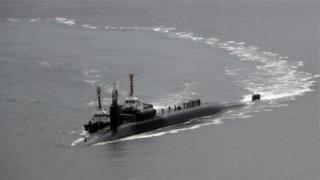 เรือดำน้ำพลังงานนิวเคลียร์ ยูเอสเอส มิชิแกน เข้าเทียบท่าที่เมืองปูซานของเกาหลีใต้