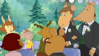 A still from an episode of the children's cartoon Arthur