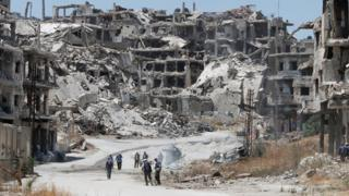 The war-torn Syrian city of Homs