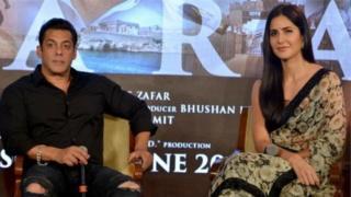 سلمان خان له کترینه کیف سره یو ځای د خپل شریک فلم 'بهارت' تبلیغاتي کمپاین پر مهال