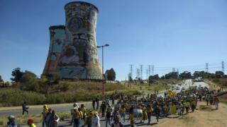 ANC supporters protesting in Soweto
