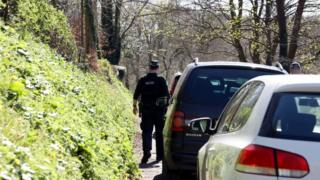 PSNI Easter patrols in Belfast