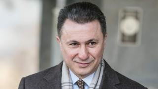 Former PM Nikola Gruevski leaves court in Skopje on 6 December 2017