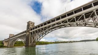 Britannia Bridge over to Anglesey