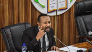 Le premier ministre Abiy Ahmed lors d'une adresse au parlement éthiopien