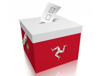 Ballot box with Isle of Man emblem