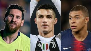 Lionel Messi, Cristiano Ronaldo & Kylian Mbappe