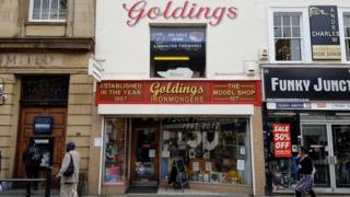 Goldings of Bedford store front.