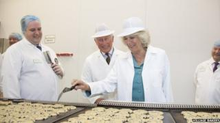 The prince and duchess visit the Village Bakery in July