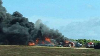 地元のニュースサイトが掲載した事故現場の画像