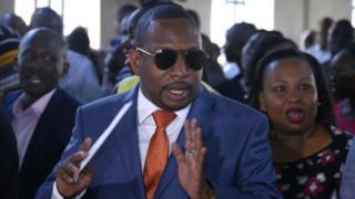 Bw Sonko alihutubu katika kanisa moja eneo la Kasarani, Nairobi Jumapili