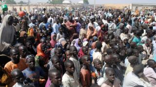 Sansanin 'yan gudun hijira a jihar Borno