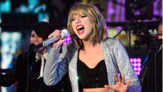 US singer Taylor Swift performs in New York's Times